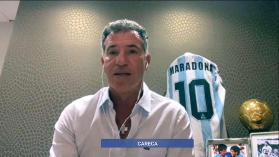 Careca parceiro de Maradona.